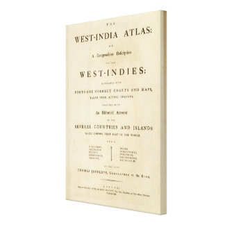 Title page West India atlas Canvas Print