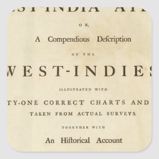 Title page West India atlas Square Sticker