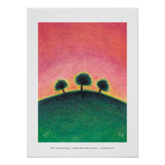 Titled:  Three Sisters Singing - lovely landscape Poster