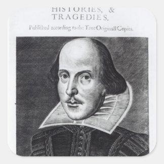 Titlepage, 'Mr. William Shakespeares Square Sticker