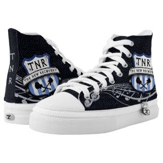 TNR Street Sign (Blue) Zipz Hi-Top Shoes Printed Shoes