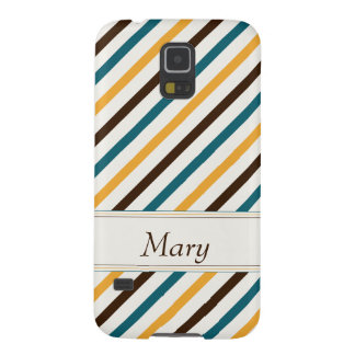 To be alone dark brown teal and or yellow striped galaxy s5 cases