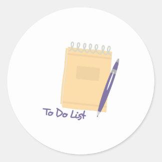 To Do List Round Sticker