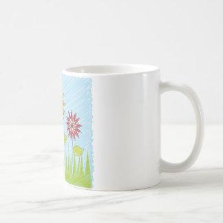 to flower design coffee mug