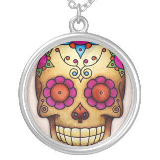 To glue Mexicana Skull Silver Plated Necklace