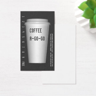 To Go Cup A-Go-Go Business Card