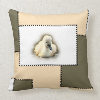to kiss: swan chick baby collection throw pillow