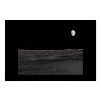 To Land on the Moon Poster