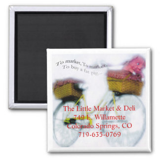 To Market To Market Square Magnet
