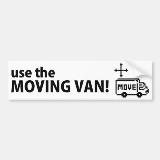 To move the textbox, use the moving van! Bumper St Car Bumper Sticker