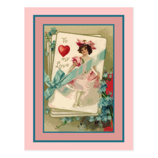 To My Love Old Fashioned Victorian Valentine Post Cards