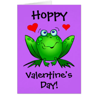 To My Princess Hoppy Valentines Cute Frog Card