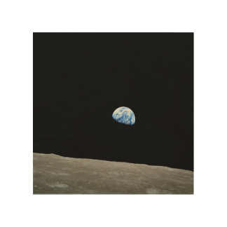 To raise Earth on the Moon Wood Print