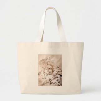 To the Genius of Franklin by Jean-Honore Fragonard Large Tote Bag