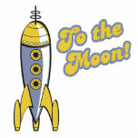 to the moon retro space rocket acrylic cut out