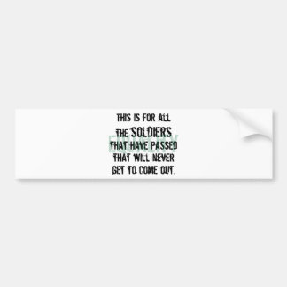 To the Soldiers Bumper Sticker