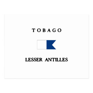 Tobago Lesser Antilles Alpha Dive Flag Postcard