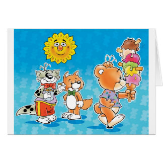 Tobi Teddy Bear and friends Card