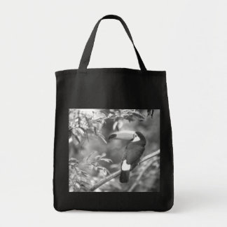 TOCO TOUCAN PHOTO BLACK AND WHITE TOTE BAG