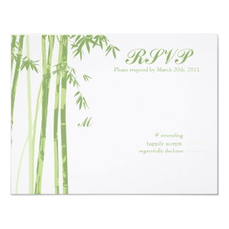 (Today's Best Award) Asian Inspired RSVP 11 Cm X 14 Cm Invitation Card