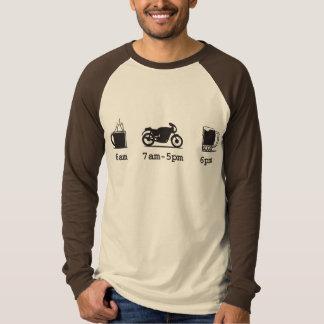 Today's schedule - coffee, 2wheels, & beer - Custo T-shirt
