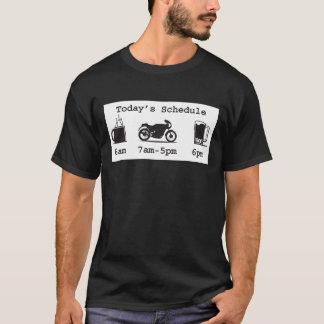 Today's schedule - Coffee, 2wheels, & beer - dark  T-Shirt