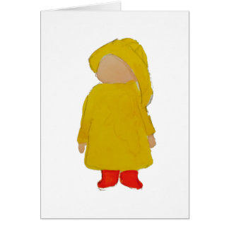 Toddie Time April Showers Rainy Day Toddler Greeting Card