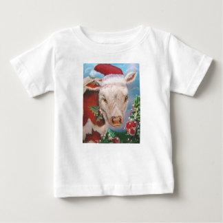 Toddler Christmas Cow Tee Shirt