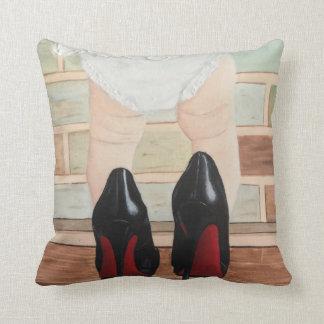 Toddler in Heels Nursery Art Cushion