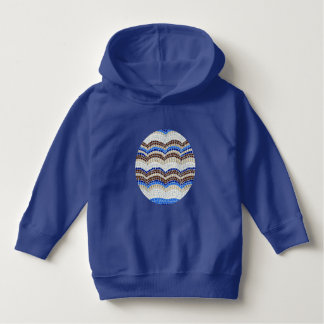 Toddler pullover hoodie with blue mosaic