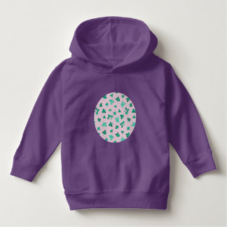 Toddler pullover hoodie with clover leaves