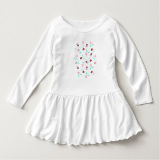 Toddler ruffle dress with clover flowers