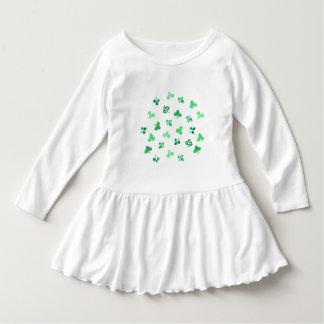Toddler ruffle dress with clover leaves