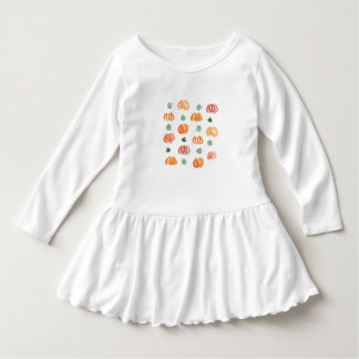 Toddler ruffle dress with pumpkins and leaves