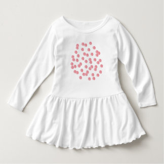 Toddler ruffle dress with red polka dots