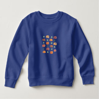 Toddler sweatshirt with pumpkins and leaves