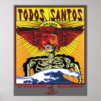 TODOS SANTOS BAJA MEXICO SURFBREAK SURFING POSTERS