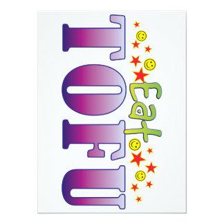 Tofu Eat 14 Cm X 19 Cm Invitation Card