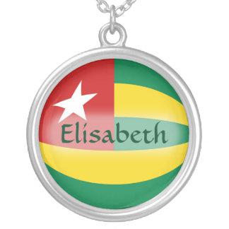 Togo Flag + Name Necklace