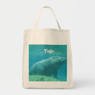 Togo Hippo Grocery Tote Bag