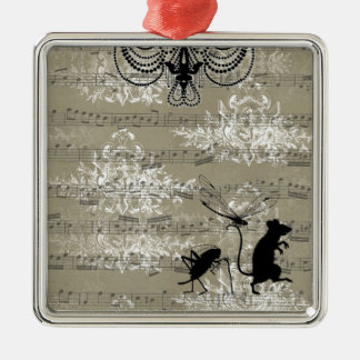 Toile Critters Christmas Ornament