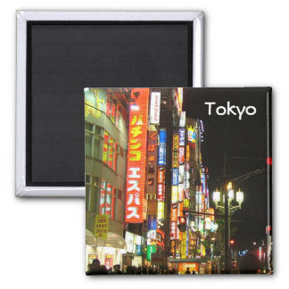 Tokyo by Night Refrigerator Magnets