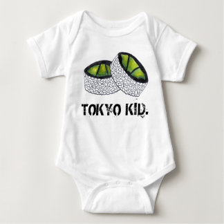 Tokyo Kid Japan Japanese Food Avocado Sushi Roll Baby Bodysuit