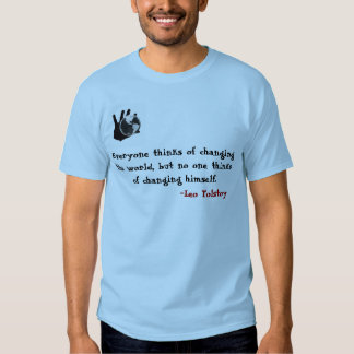 Tolstoy thought process t shirt