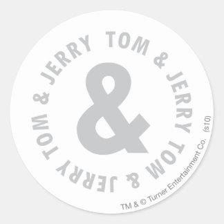 Tom and Jerry Round Logo 2 Classic Round Sticker