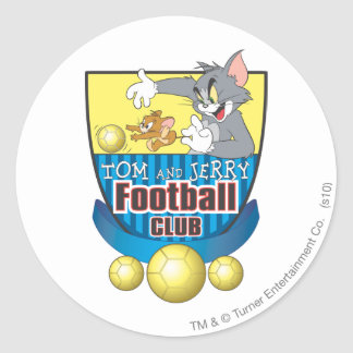 Tom and Jerry Soccer (Football) 5 Classic Round Sticker