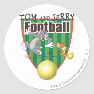 Tom and Jerry Soccer (Football) 6 Classic Round Sticker