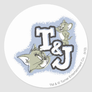 Tom and Jerry T&J Logo Classic Round Sticker