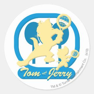 Tom and Jerry Tennis Stars 3 Classic Round Sticker