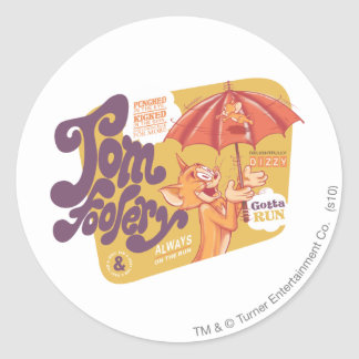 Tom and Jerry Tom Foolery Classic Round Sticker